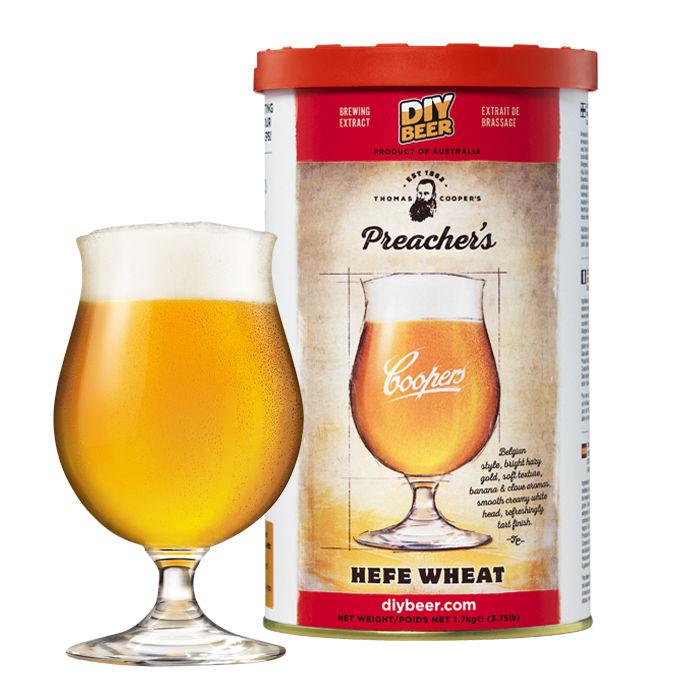 malto preparazione per birra hefe wheat coopers